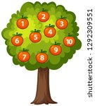 count orange on the tree... | Shutterstock .eps vector #1292309551