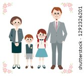 happy family portrait with... | Shutterstock . vector #1292326201