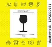 wineglass icon symbol. graphic... | Shutterstock .eps vector #1292330161