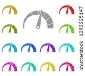 speedometer chart icon in multi ...