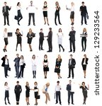 set of business people isolated ... | Shutterstock . vector #129233564
