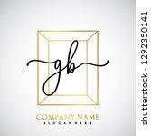 gb initial handwriting logo... | Shutterstock .eps vector #1292350141