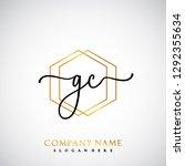 gc initial handwriting logo...   Shutterstock .eps vector #1292355634