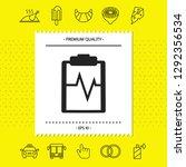electrocardiogram symbol icon.... | Shutterstock .eps vector #1292356534
