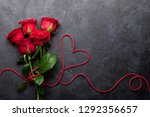 valentine's day greeting card... | Shutterstock . vector #1292356657
