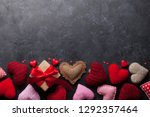 valentine's day greeting card... | Shutterstock . vector #1292357464