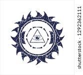 blue illuminati pyramid icon...   Shutterstock .eps vector #1292362111
