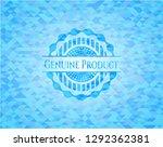 genuine product light blue... | Shutterstock .eps vector #1292362381