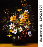 Oil Painting Of Spring Flowers...
