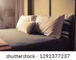 bed maid up with clean white... | Shutterstock . vector #1292377237