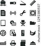 solid black vector icon set  ... | Shutterstock .eps vector #1292380537