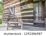 front porch. weathered log... | Shutterstock . vector #1292386987