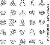 thin line icon set   handshake... | Shutterstock .eps vector #1292390281