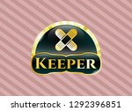 shiny badge with crossed... | Shutterstock .eps vector #1292396851
