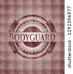 bodyguard red seamless emblem...   Shutterstock .eps vector #1292396977