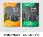 business abstract vector... | Shutterstock .eps vector #1292398141