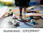 vintage sewing machine and... | Shutterstock . vector #1292398447