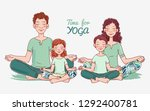 mother  father and and two...   Shutterstock .eps vector #1292400781