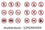 prohibition sign set   no smoke ... | Shutterstock .eps vector #1292404354