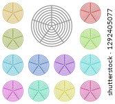 polar grid icon in multi color. ...