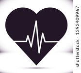 heartbeat  vector icon | Shutterstock .eps vector #1292409967