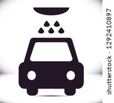 car wash  vector icon | Shutterstock .eps vector #1292410897