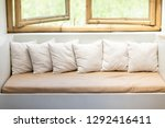 beautiful  white pillows on... | Shutterstock . vector #1292416411