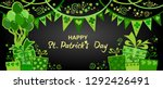 happy st. patrick's day.... | Shutterstock . vector #1292426491