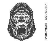 illustration  angry gorilla...   Shutterstock . vector #1292430214