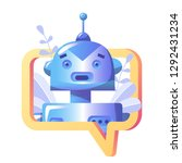 concept chatbot and future... | Shutterstock .eps vector #1292431234