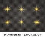 white glowing light explodes on ... | Shutterstock .eps vector #1292438794