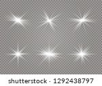 white glowing light explodes on ... | Shutterstock .eps vector #1292438797