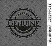 genuine black emblem. vintage. | Shutterstock .eps vector #1292444251