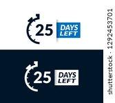 25 days left sign   emblem ...