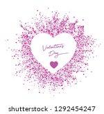 pink heart valentine's day... | Shutterstock .eps vector #1292454247