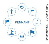 pennant icons. trendy 8 pennant ...