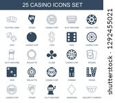 casino icons. trendy 25 casino... | Shutterstock .eps vector #1292455021