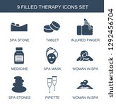 9 therapy icons. trendy therapy ... | Shutterstock .eps vector #1292456704