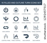 16 turn icons. trendy turn... | Shutterstock .eps vector #1292457517