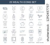 25 wealth icons. trendy wealth... | Shutterstock .eps vector #1292457757