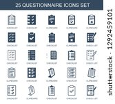 25 questionnaire icons. trendy...   Shutterstock .eps vector #1292459101