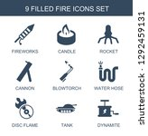 fire icons. trendy 9 fire icons.... | Shutterstock .eps vector #1292459131