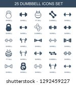 dumbbell icons. trendy 25... | Shutterstock .eps vector #1292459227