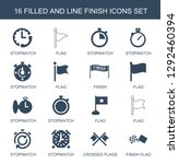 16 finish icons. trendy finish... | Shutterstock .eps vector #1292460394