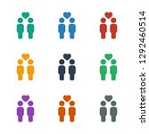 gay couple icon white... | Shutterstock .eps vector #1292460514