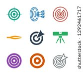 accuracy icons. trendy 9... | Shutterstock .eps vector #1292461717