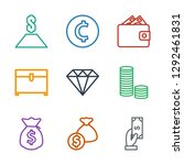 rich icons. trendy 9 rich icons.... | Shutterstock .eps vector #1292461831
