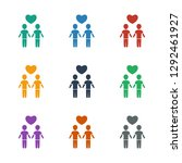 gay couple icon white... | Shutterstock .eps vector #1292461927