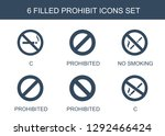 6 prohibit icons. trendy... | Shutterstock .eps vector #1292466424