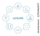 8 leisure icons. trendy leisure ... | Shutterstock .eps vector #1292466547